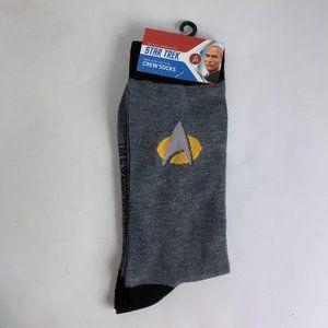 Star Trek Men's Crew Socks 10 11 12 13